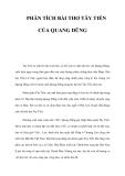 Phân tích bài thơ Tấy tiến của nhà thơ Quang Dũng
