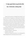 Vẻ đẹp người lính trong bài thơ Bài thơ về tiểu đội xe không kính