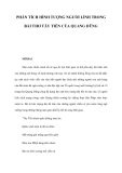 Phân tích hình tượng người lính trong bài thơ Tấy tiến của Quang Dũng