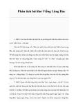 Phân tích bài thơ Viếng Lăng Bác