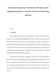 Cách làm đề: Tính dân tộc trong bài thơ Việt Bắc được biểu hiện cụ thể ở những phương diện nào? Trình bày vắn tắt và nêu dẫn chứng minh họa