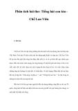 Phân tích bài thơ: Tiếng hát con tàu Chế Lan Viên