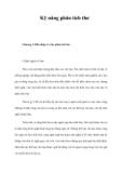 Tài liệu: Kỹ năng phân tích thơ