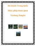 Du khách Trung Quốc được phép tham quan Yarlung Zangbo