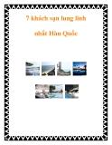 7 khách sạn lung linh nhất Hàn Quốc