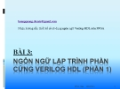 Hướng dẫn thiết kế số sử dụng ngôn ngữ Verilog-HDL trên FPGA: Bài 3