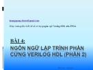 Hướng dẫn thiết kế số sử dụng ngôn ngữ Verilog-HDL trên FPGA: Bài 4