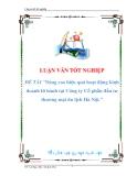 luận văn: Nâng cao hiệu quả hoạt động kinh doanh lữ hành tại Công ty Cổ phần đầu tư thương mại du lịch Hà Nội