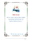 luận văn: THỰC TRẠNG PHÁT TRIỂN NGÀNH DU LỊCH Ở NƯỚC TA TRONG THỜI GIAN QUA