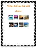 Những bãi biển hot nhất châu Á