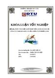 Luận văn: Phân tích hiệu quả hoạt động kinh doanh tại công ty TNHH mua bán và sửa chữa ô tô Phước Linh