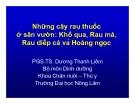 Những cây rau thuốc ở sân vườn: Khổ qua, Rau má, Rau diếp cá và Hoàng ngọc - PGS.TS. Dương Thanh Liêm