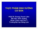 THỰC PHẨM DINH DƯỠNG CƠ BẢN -  PGS.TS. Dương Thanh Liêm