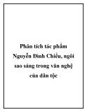 Phân tích tác phẩm Nguyễn Đình Chiểu, ngôi sao sáng trong văn nghệ của dân tộc