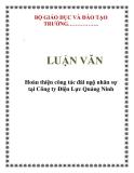 LUẬN VĂN: Hoàn thiện công tác đãi ngộ nhân sự tại Công ty Điện Lực Quảng Ninh