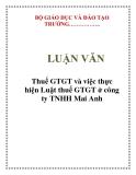 LUẬN VĂN: Thuế GTGT và việc thực hiện Luật thuế GTGT ở công ty TNHH Mai Anh
