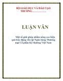 LUẬN VĂN: Một số giải pháp nhằm nâng cao hiệu quả huy động vốn tại Ngân hàng Thương mại Cổ phần Kỹ thương Việt Nam