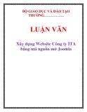 Luận văn: Xây dựng Website Công ty ITA bằng mã nguồn mở Joomla
