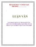 LUẬN VĂN: GIẢI PHÁP NHÂN SỰ NHẰM ĐÁP ỨNG YÊU CẦU CỔ PHẦN HÓA TẠI CÔNG TY CỔ PHẦN VẬN TẢI BIỂN VIỆT NAM VINASHIP