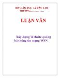 Luận văn:  Xây dựng Website quảng bá thông tin mạng WSN