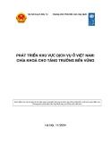 Phát triển khu vực dịch vụ ở Việt Nam