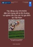 Tác động của HIV/AIDs đến tình trạng dễ bị tổn thương và nghèo đói tại các hộ gia đình tại Việt Nam