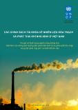 Các chính sách tài khóa về thiên nhiên hóa thạch và phát thải khí nhà kính ở Việt Nam