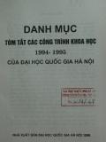 Danh mục các công trình nghiên cứu khoa học 1994-1995  của đại học Quốc gia Hà  Nội