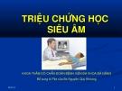 Triệu chứng học siêu âm - Bệnh viện Đa khoa Đà Nẵng