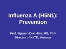 Influenza A (H5N1): Prevention