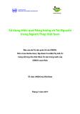 Sử dụng Hiệu quả Năng lượng và Tài Nguyên trong Ngành Thép Việt Nam
