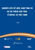 nghiên cứu về giới, nam tính và sự ưa thích con trai ở nepal và việt nam