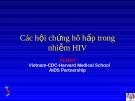 Các hội chứng hô hấp trong nhiễm HIV