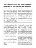 Báo cáo Y học:  A novel gain-of-function mutation of the integrin a2 VWFA domain