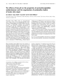 Báo cáo Y học:  The effects of low pH on the properties of protochlorophyllide oxidoreductase and the organization of prolamellar bodies of maize (Zea mays)