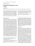 Báo cáo Y học: Novel protein phosphatases in yeast