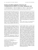 Báo cáo Y học: Function and cellular localization of farnesoic acid O -methyltransferase (FAMeT) in the shrimp, Metapenaeus ensis