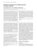 Báo cáo Y học:  Puri®cation and properties of an alkaline proteinase of Fusarium culmorum
