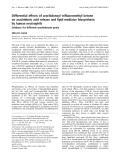 Báo cáo Y học: Differential effects of arachidonoyl trifluoromethyl ketone on arachidonic acid release and lipid mediator biosynthesis by human neutrophils
