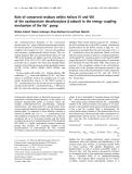 Báo cáo Y học:  Role of conserved residues within helices IV and VIII of the oxaloacetate decarboxylase b subunit in the energy coupling mechanism of the Na+ pump