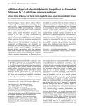 Báo cáo Y học:  Inhibition of glycosyl-phosphatidylinositol biosynthesis in Plasmodium falciparum by C-2 substituted mannose analogues