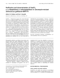 Báo cáo Y học:  Purification and characterization of VanXYC, a D,D-dipeptidase/D,D-carboxypeptidase in vancomycin-resistant Enterococcus gallinarum BM4174