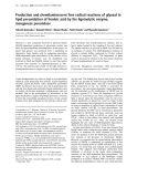 Báo cáo Y học: Production and chemiluminescent free radical reactions of glyoxal in lipid peroxidation of linoleic acid by the ligninolytic enzyme, manganese peroxidase