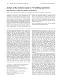 Báo cáo Y học: C-labelling experiments