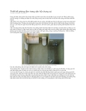 Thiết kế phòng tắm trong căn hộ chung cư.