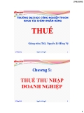 Bài giảng Thuế-Chương 5: Thuế thu nhập doanh nghiệp