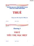 Bài giảng Thuế: Chương 3 - ThS. Nguyễn Lê Hồng Vỹ