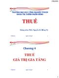 Bài giảng Thuế-Chương 4: Thuế giá trị gi tăng
