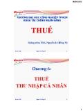 Bài giảng Thuế-Chương 6: THUẾ THU NHẬP CÁ NHÂN