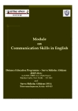 Sách Module on Communication Skills in English
